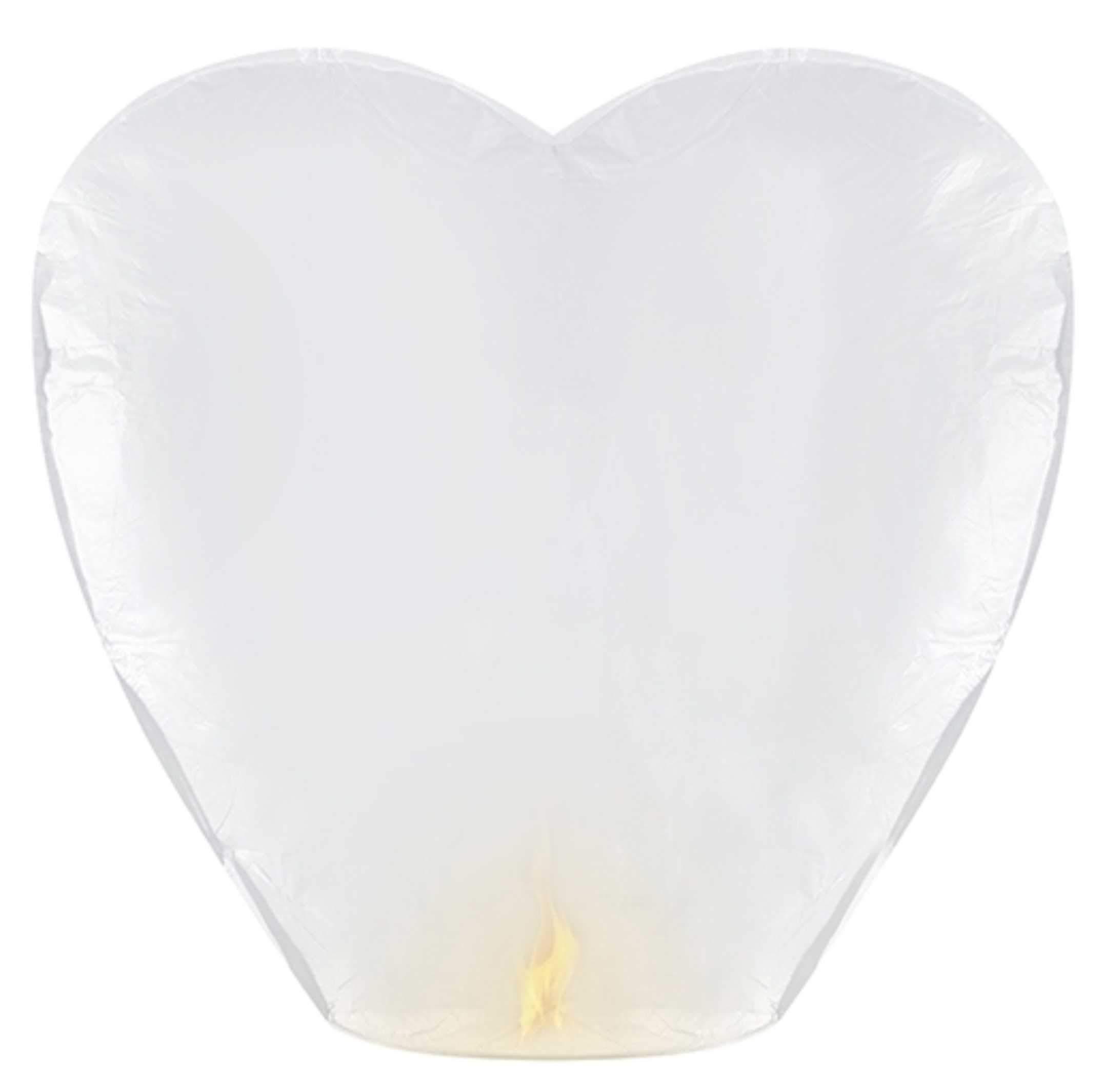 Χάρτινο Ιπτάμενο Φαναράκι καρδιά