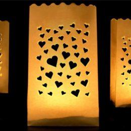 Σακουλάκι με μοτίβο καρδιές για ρεσώ