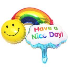 Μπαλόνι ουράνιο τόξο Have a Nice Day 115 εκ