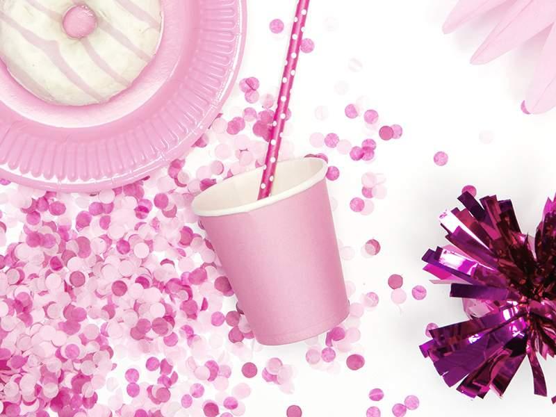 Ποτήρια πάρτυ χάρτινα ροζ της πούδρας (6 τεμ)