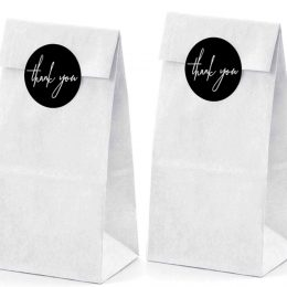 Λευκές σακούλες Thank You (6 τεμ)