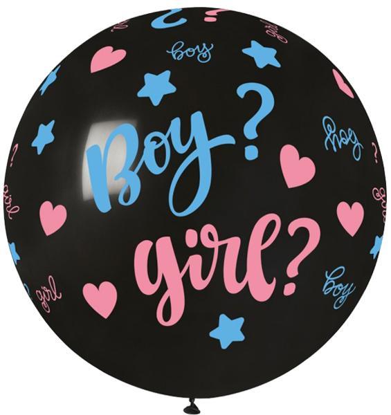 """30"""" μπαλόνι τυπωμένο Boy or Girl"""