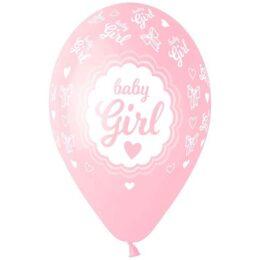 """13"""" Μπαλόνι Baby Girl καρδούλες"""