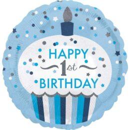 Μπαλόνι 1st Birthday Boy Cupcake 45 εκ
