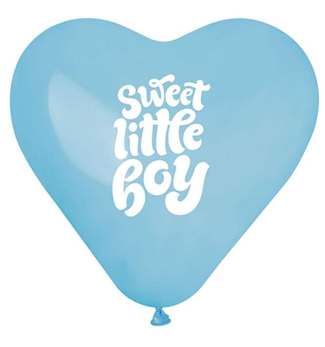 """12"""" Μπαλόνι Καρδιά Sweet Little Boy"""
