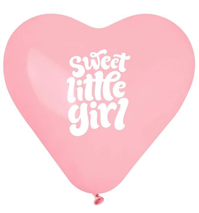 """12"""" Μπαλόνι Καρδιά Sweet Little Girl"""