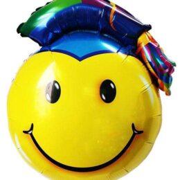 Μπαλόνι αποφοίτησης φάτσα με καπέλο 80 εκ
