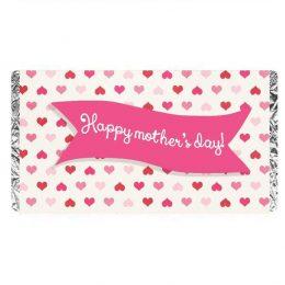 """Σοκολάτα για την γιορτή της μητέρας καρδούλες """"Happy Mother's Day"""""""