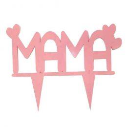 """Διακοσμητικό τούρτας για την γιορτή της μητέρας """"Μαμά"""""""