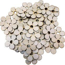 Ξύλινα διακοσμητικά λουλουδάκια (50 τεμ)