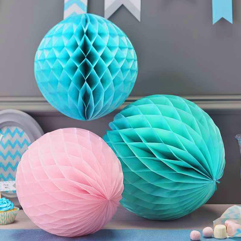 Γαλάζια χάρτινη διακοσμητική μπάλα