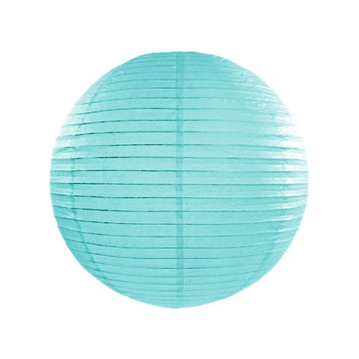Γαλάζιο διακοσμητικό χάρτινο φαναράκι