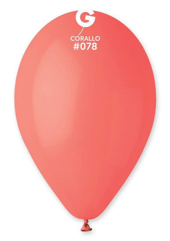 """13"""" Κοραλί λάτεξ μπαλόνι"""