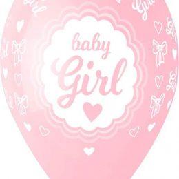 13″ Μπαλόνι Baby Girl καρδούλες