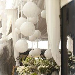 Λευκό διακοσμητικό χάρτινο Φαναράκι
