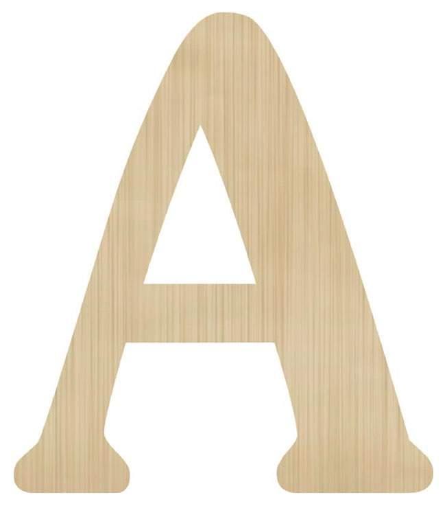 Ξύλινο διακοσμητικό γράμμα 'Α'
