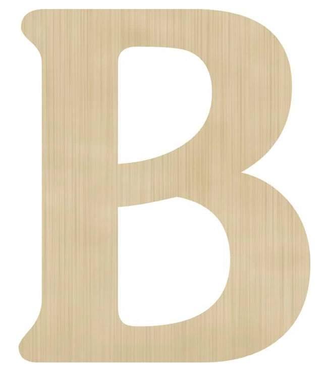 Ξύλινο διακοσμητικό γράμμα 'Β'