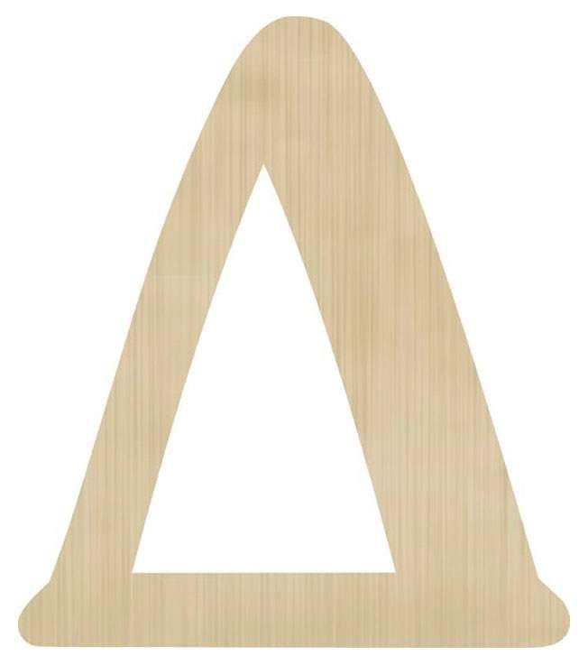 Ξύλινο διακοσμητικό γράμμα 'Δ'