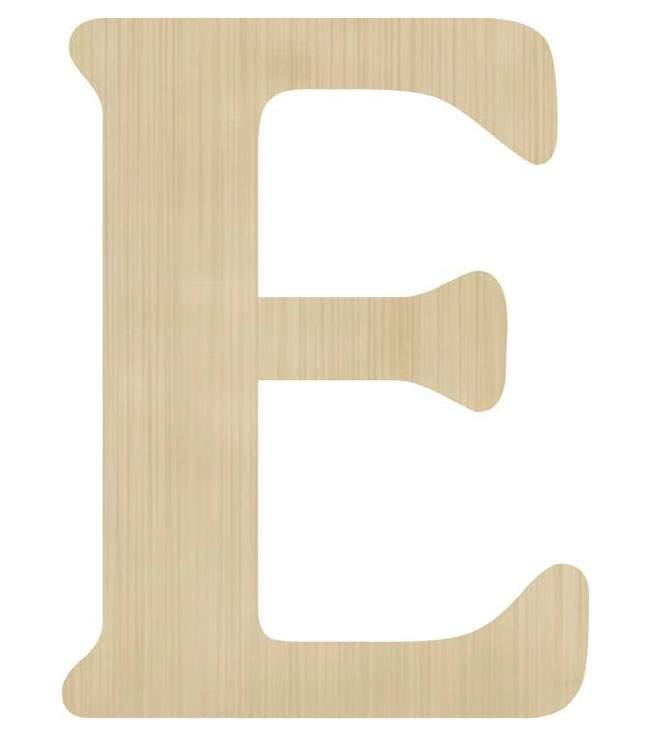 Ξύλινο διακοσμητικό γράμμα 'Ε'