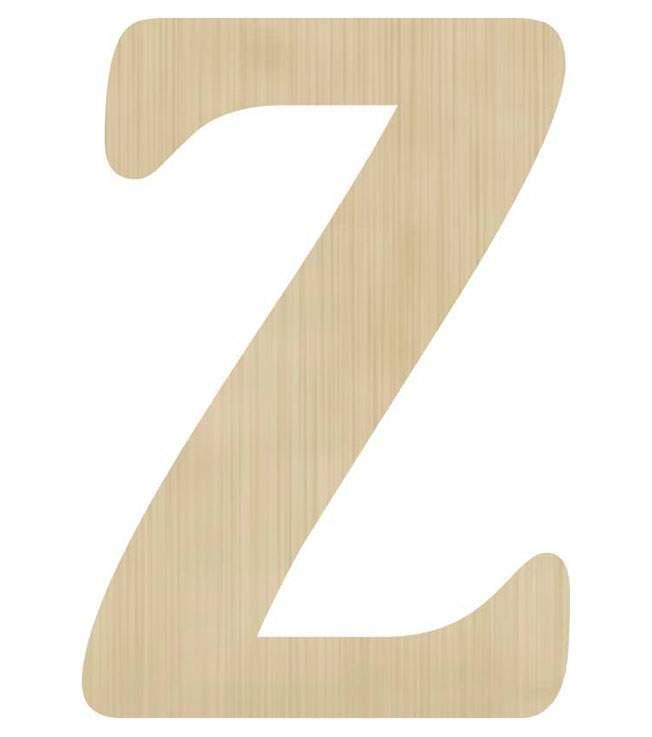 Ξύλινο διακοσμητικό γράμμα 'Ζ'