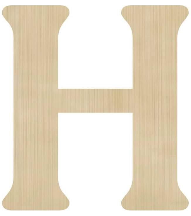 Ξύλινο διακοσμητικό γράμμα 'Η'