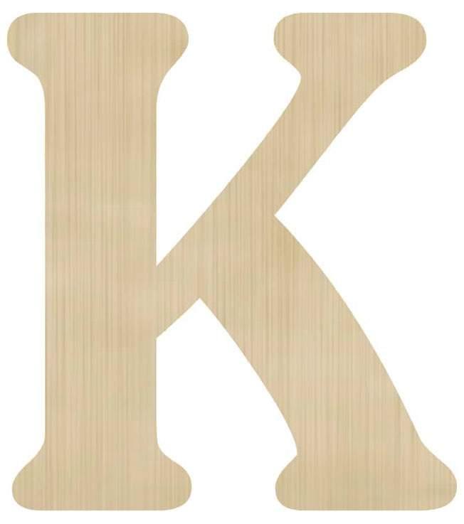Ξύλινο διακοσμητικό γράμμα 'Κ'