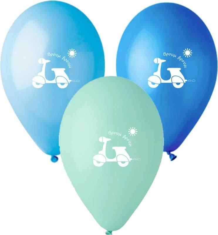 """12"""" Μπαλόνι τυπωμένο Βέσπα"""