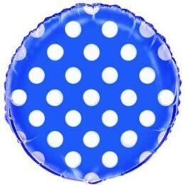 Μπαλόνι μπλε πουά
