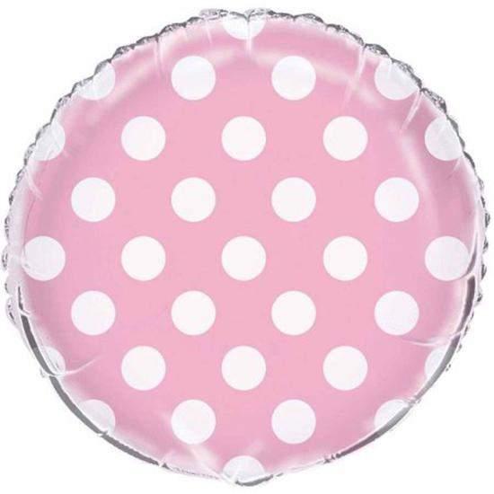 Μπαλόνι ροζ πουά 45 εκ