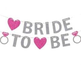 Διακοσμητικό μπάνερ με γκλίτερ Bride to be