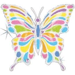 Μπαλόνι Πεταλούδα παστέλ χρώματα 84 εκ