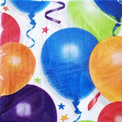 Χαρτοπετσέτες με μπαλόνια & αστέρια (16 τεμ)