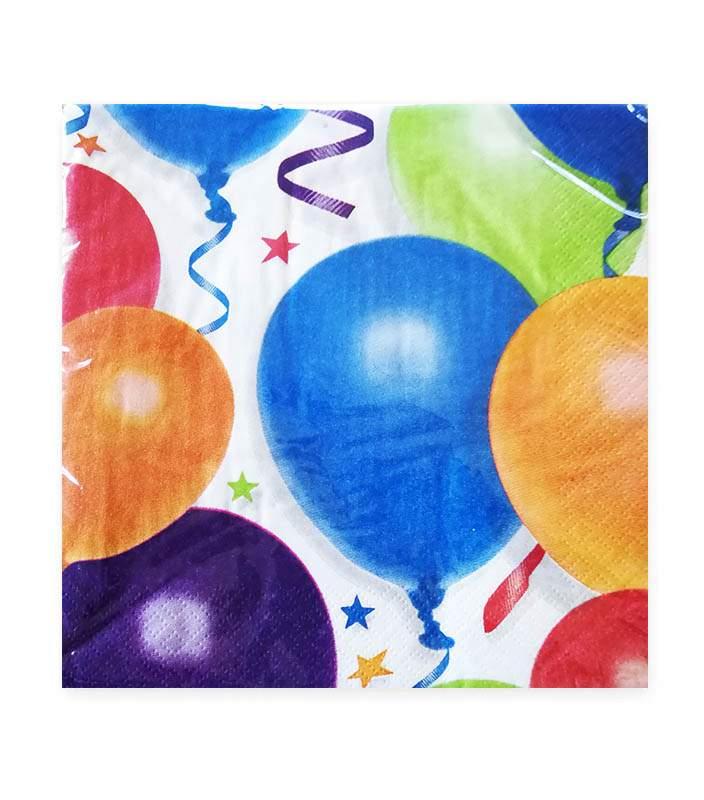 Χαρτοπετσέτες μικρές μπαλόνια & αστέρια (16 τεμ)