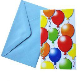 Προσκλήσεις με μπαλόνια (6 τεμ)