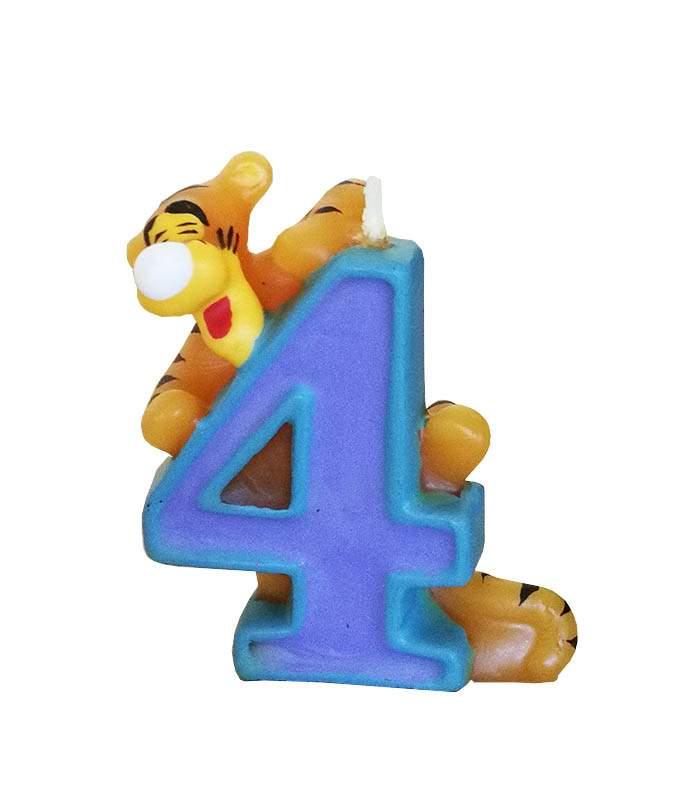 Κεράκι γενεθλίων No 4 Τίγρης