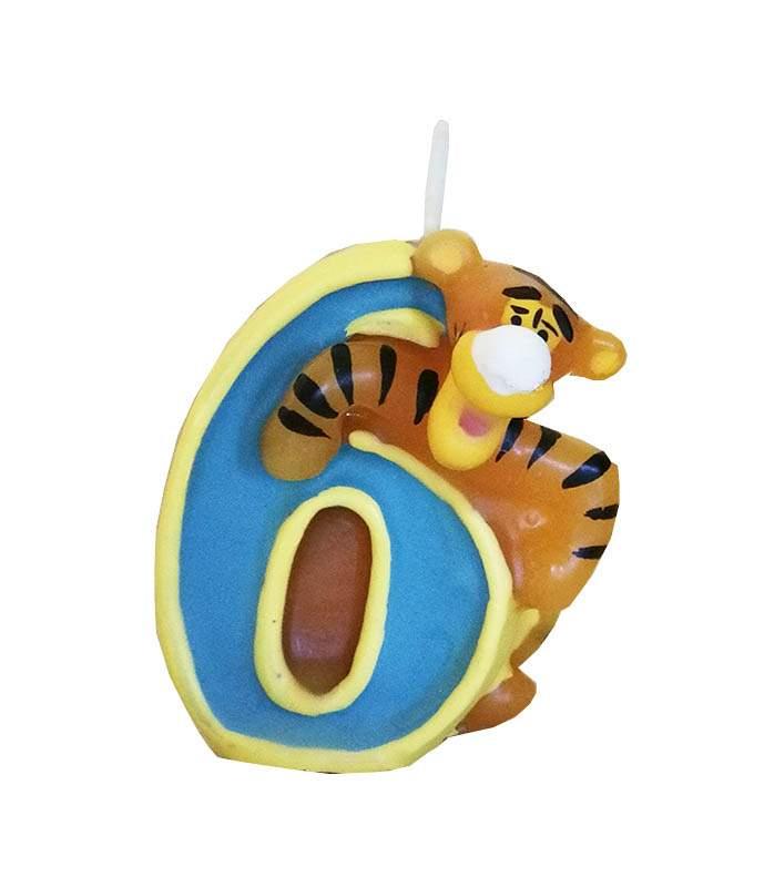 Κεράκι γενεθλίων No 6 Τίγρης