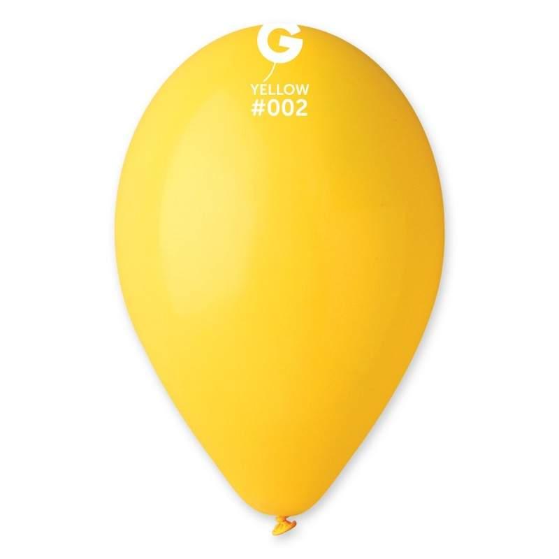 """9"""" Κίτρινο λάτεξ μπαλόνι"""