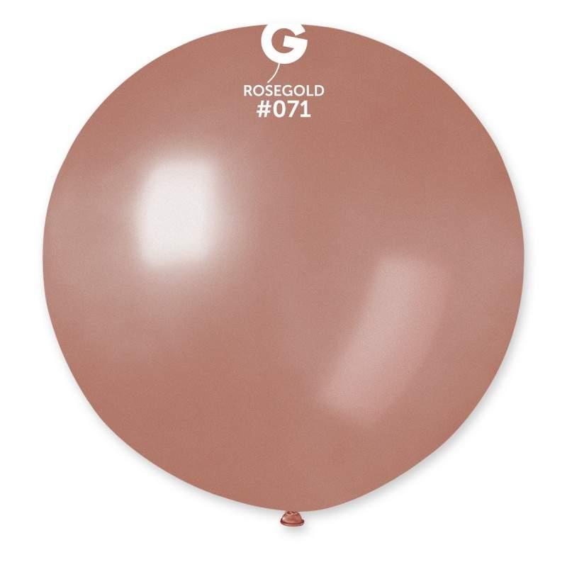 """31"""" Ροζ Χρυσό μεγάλο μπαλόνι"""