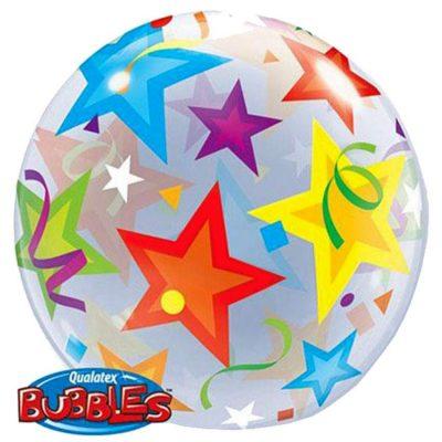 Μπαλόνι bubble πολύχρωμα Αστέρια