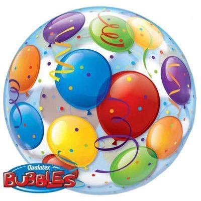 Μπαλόνι bubble πολύχρωμα Mπαλόνια