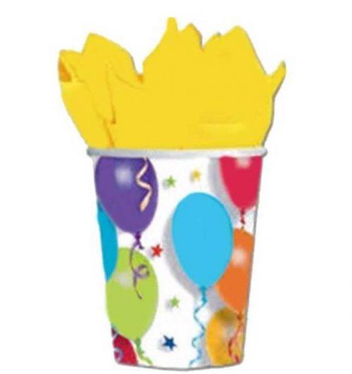 Ποτήρια με μπαλόνια & αστέρια