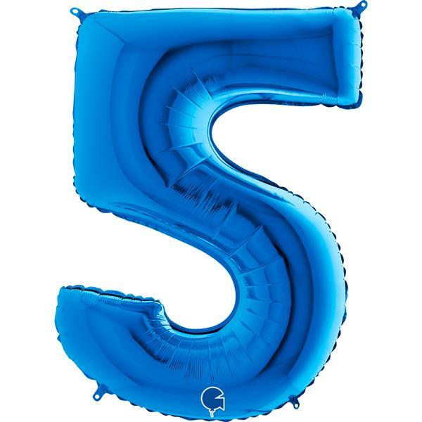 Μπαλόνι 100 εκ Μπλε Αριθμός 5