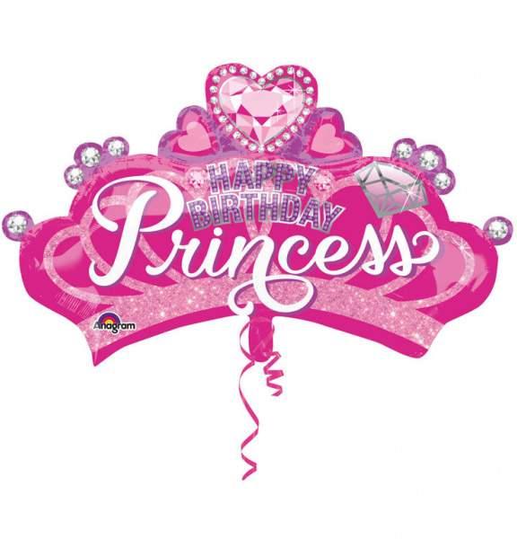 Μπαλόνι για γενέθλια Στέμα 'Happy Bday Princess'