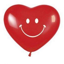 """12"""" Μπαλόνι τυπωμένο χαμογελαστή καρδιά"""