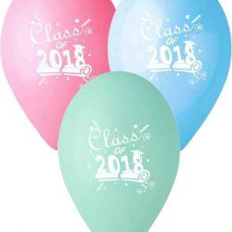 12″ Μπαλόνι τυπωμένο Class of 2018