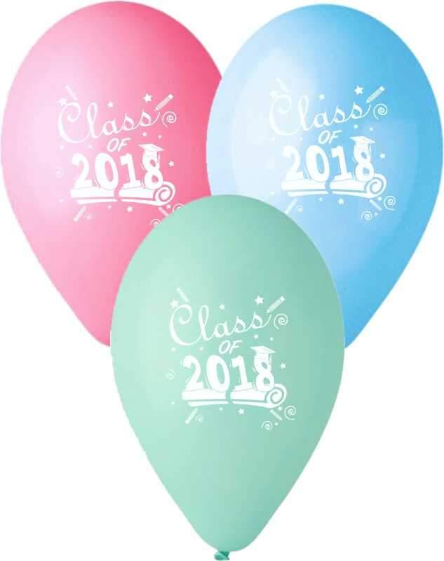 """12"""" Μπαλόνι τυπωμένο Class of 2018"""
