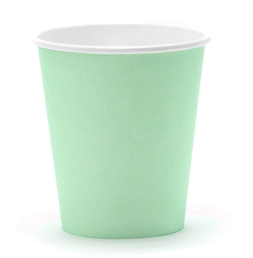 Ποτήρια πάρτυ χάρτινα τυρκουάζ (6 τεμ)