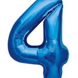 Τεράστιο Μπαλόνι 100 εκ Μπλε Αριθμός 4
