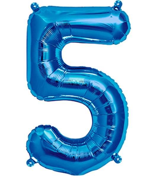 Τεράστιο Μπαλόνι 100 εκ Μπλε Αριθμός 5