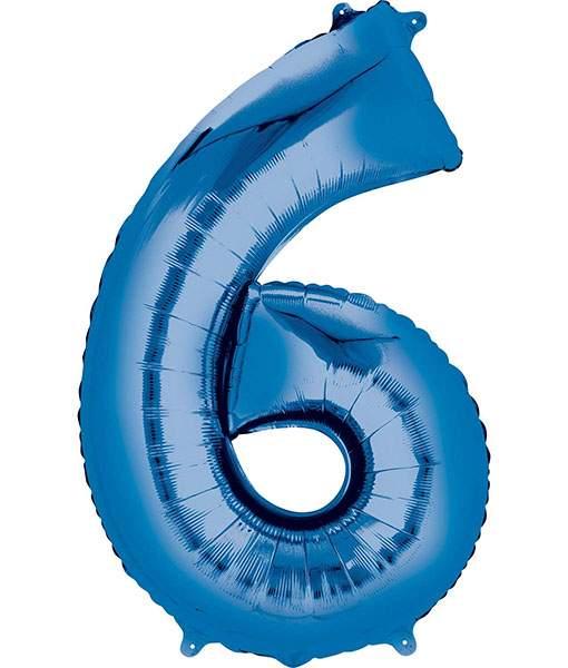 Τεράστιο Μπαλόνι 100 εκ Μπλε Αριθμός 6